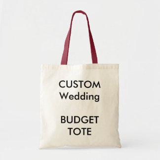 Custom Budget Tote Bag (RED Colour Handles)