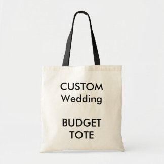 Custom Budget Tote Bags BLACK Colored Handles
