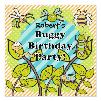 Custom Buggy Birthday Party Birthday Invitation