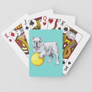 Custom Bulldog Playing Cards