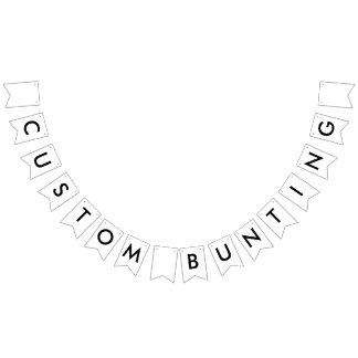 Custom Bunting Banner - Swallowtail