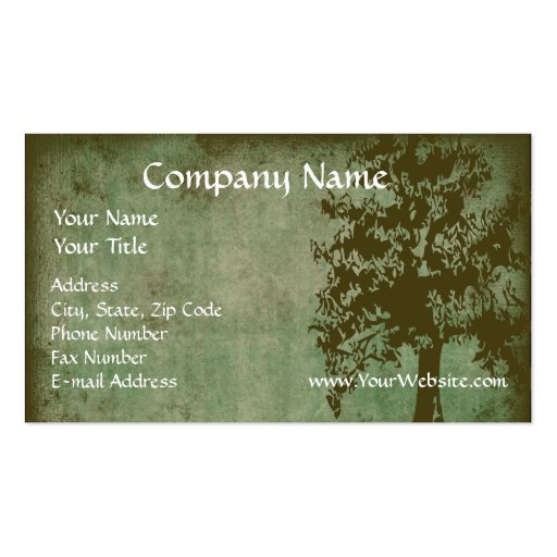 Custom Business Card, Design Online Green Eco Tree