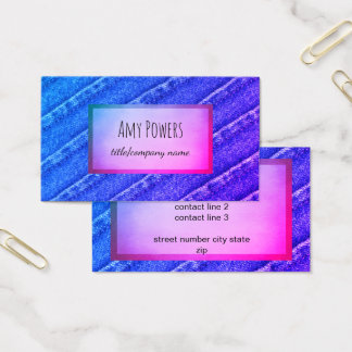 custom business card double sided blue and purple