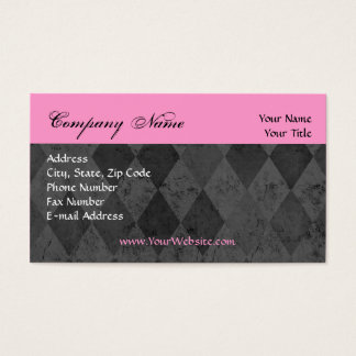 Custom Business Card, Pink and Black Design Business Card