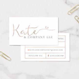 Custom Business Cards: Kate & Company Business Card