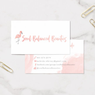 Custom Business Cards: Soul Balanced Beauties Business Card