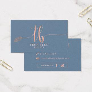 Custom Business Cards: True Bleu Designs Business Card