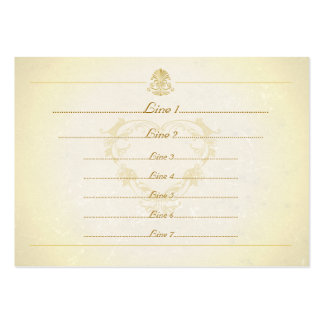 Custom Business Cards Vintage Parchment Paper