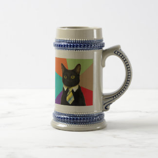 Custom Business Cat Beer Stein