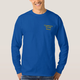 Custom Business Embroidered Long Sleeve T-Shirt