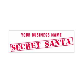 Custom Business Name Secret Santa Rubber Stamp