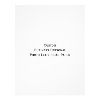 Custom Business Personal Photo Letterhead Paper