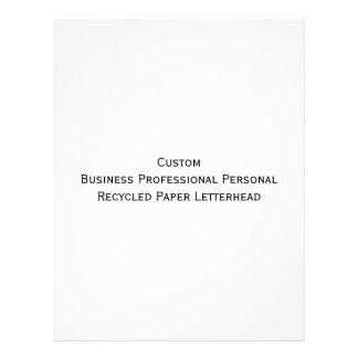 Custom Business Personal Recycled Paper Letterhead