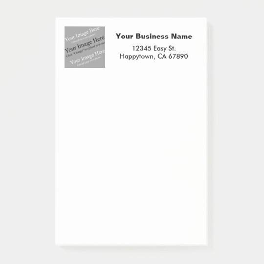 Custom Business Template Square Image Stickie Post-it® Notes