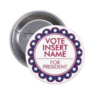 Custom Button Pin Vote Election Campaign Marketing