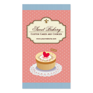 Custom Cakes and Cookies Dessert Bakery Shop Business Card