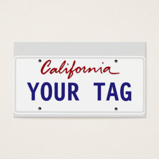 Custom California License Plate Business Card