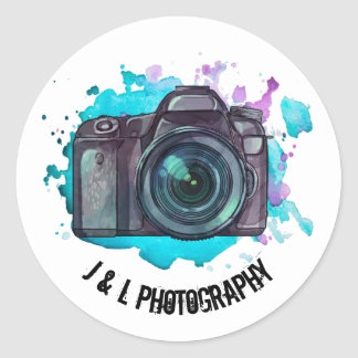 Custom Camera Photographer Label Stickers