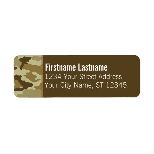 Custom Camo Return Address Labels
