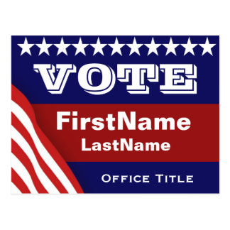 Custom Campaign Election Template Postcard