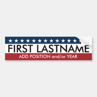 Custom Campaign Gear with traditional stars colors Bumper Sticker