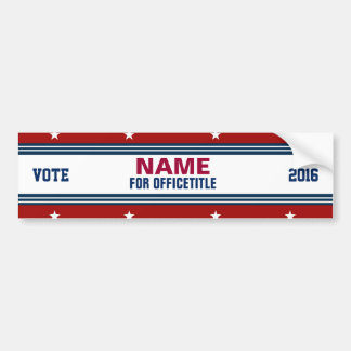 Custom Campaign Political Template Bumper Sticker