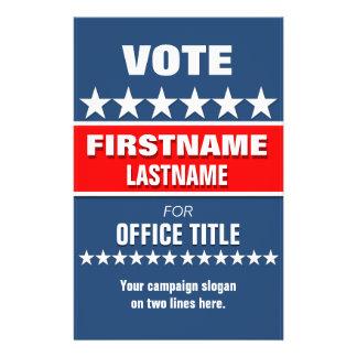Custom Campaign Political Template Flyer