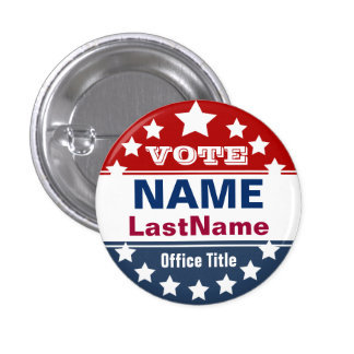 Custom Campaign Template 1 Inch Round Button
