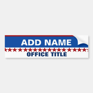 Custom Campaign Template Bumper Sticker