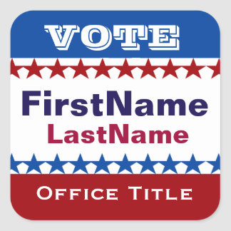 Custom Campaign Template Square Sticker