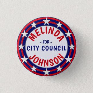 Custom Campaign Template Stars Stripes 1 Inch Round Button
