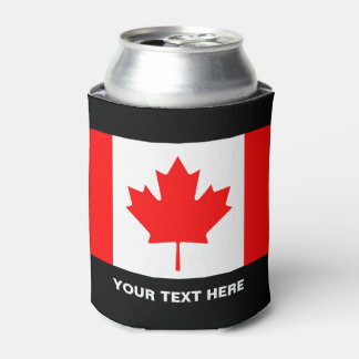 Custom Canadian flag can coolers for Canada Day Can Cooler