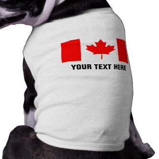 Custom Canadian flag dog clothing for Canada Day