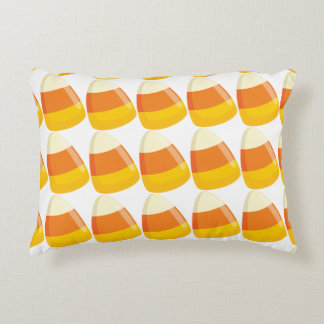 Custom Candy Corn Accent Pillow