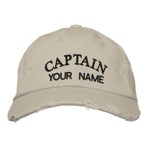 CUSTOM CAPTAIN - Embroidered Hat