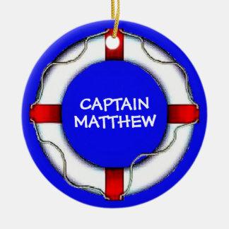 Custom Captain Lifesaver Ceramic Ornament