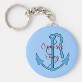 Custom Captain's Keys Anchor Keychain