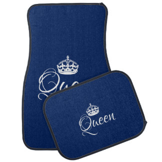Custom Car Floor Mats - Queen Blue