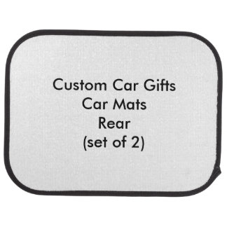 Custom Car Gifts Car Mats Rear (set of 2)