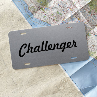 Custom Car License Plate - Matte Steel -Challenger