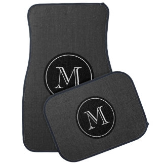 Custom car mat set with elegant monogram letters