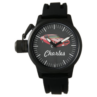 Custom Car Watch - Muscle Car Red