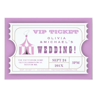 CUSTOM Carnival Admission Ticket for Wedding Card