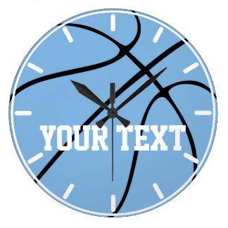 Custom Carolina Blue / Light Blue Basketball Clock