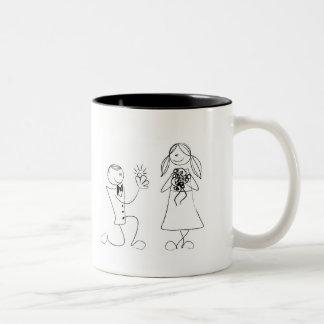 Custom Cartoon Couple Wedding/Engagement  Mug