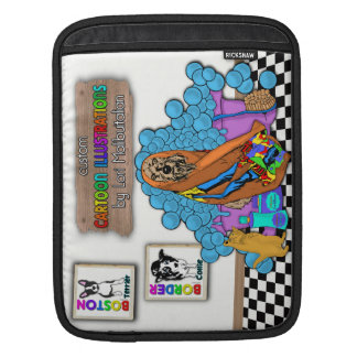 Custom Cartoon Illustrations iPad Sleeve