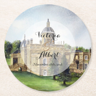 Custom Castle Howard Wedding Coaster