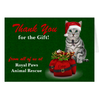 Custom Cat and Mouse Holiday Thank You Card