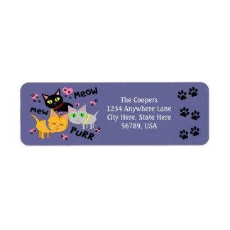 Custom Cat Art Return Address Labels