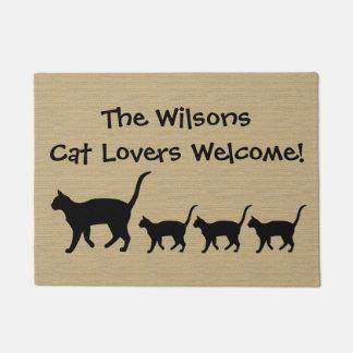 Custom Cat Lovers Doormat
